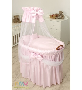 Moses Basket Princess Voile Light Pink
