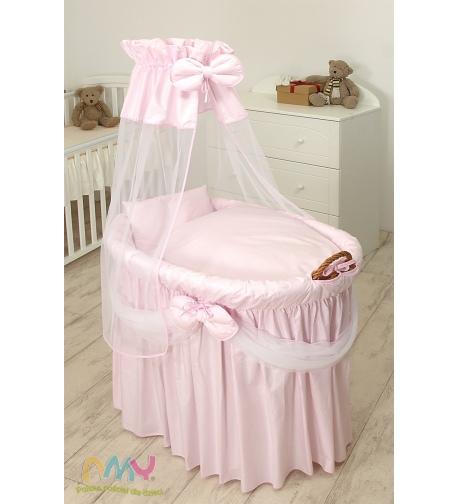 Moses Basket Princess Voile Light Pink