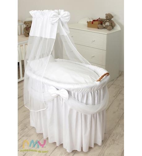 Moses Basket Princess Voile White