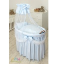 Moses Basket Prince Voile Blue