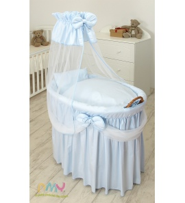 Moses Basket Princess Voile Blue
