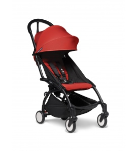 Babyzen YOYO2 stroller Black frame & Red colour pack 6+