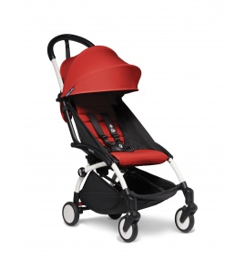 BABYZEN YOYO2 stroller White frame & Red colour pack 6+